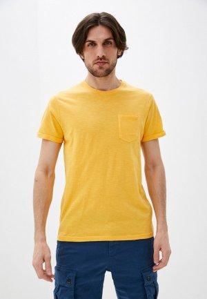 Футболка Indicode Jeans. Цвет: оранжевый