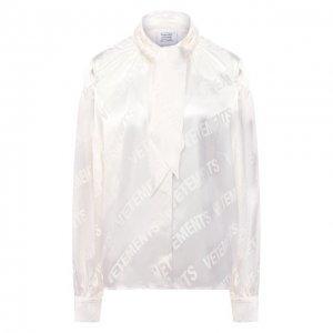 Блузка из вискозы VETEMENTS. Цвет: белый