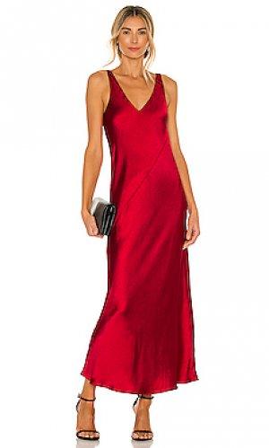 Макси платье loulou Line & Dot. Цвет: красный
