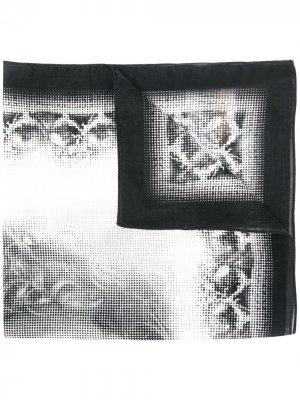 Платок 1990-х годов с принтом John Galliano Pre-Owned. Цвет: черный