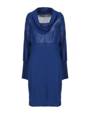 Платье до колена 22 MAGGIO by MARIA GRAZIA SEVERI. Цвет: синий