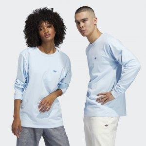 Лонгслив Shmoo (Унисекс) Originals adidas. Цвет: синий