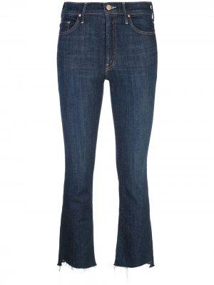 Прямые укороченные брюки Mother. Цвет: синий