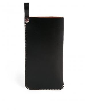 Кожаный чехол для солнцезащитных очков ASOS. Цвет: шоколадный