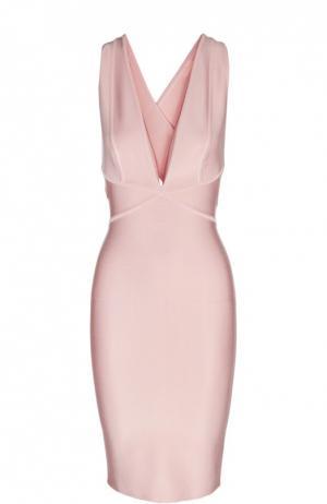 Платье Herve L.Leroux. Цвет: светло-розовый