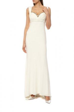 Платье Groupe JS. Цвет: кремовый