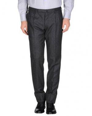 Классические брюки INCOTEX. Цвет: стальной серый