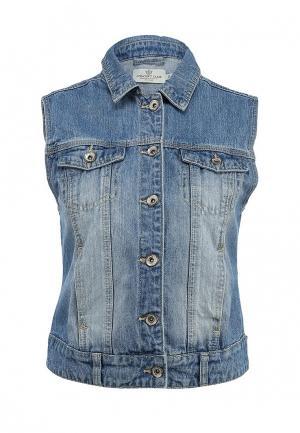 Жилет джинсовый Concept Club. Цвет: голубой