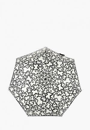 Зонт складной Tous PARAGUAS PLEGABLE. Цвет: бежевый