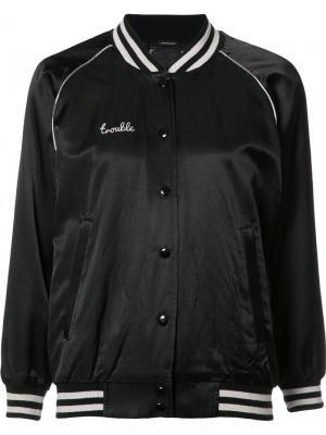 Куртка-бомбер Trouble R13. Цвет: черный