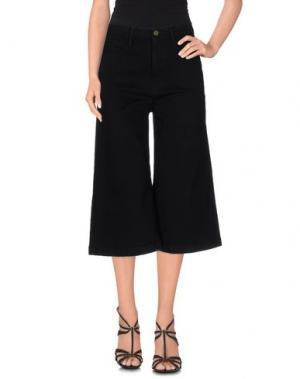 Джинсовые брюки-капри FRAME DENIM. Цвет: черный