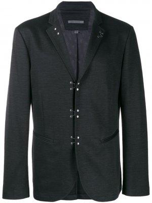Пиджак с застежками-крючками John Varvatos. Цвет: черный