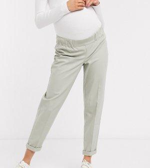 Шалфейно-зеленые чиносы с карманами-карго ASOS DESIGN Maternity-Зеленый Maternity