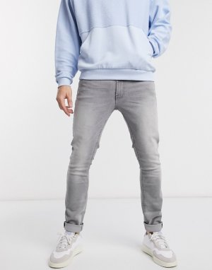 Серые джинсы скинни -Серый Burton Menswear