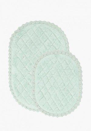 Комплект ковриков Sofi De Marko 60х100 см, 50х70 см. Цвет: бирюзовый