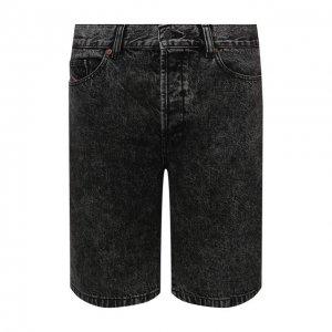 Джинсовые шорты Diesel. Цвет: серый