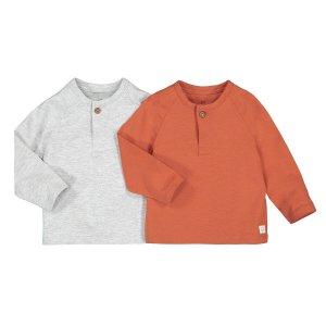Комплект из 2 футболок с La Redoute. Цвет: серый
