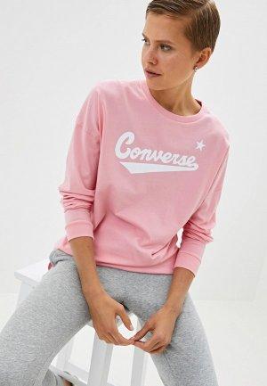 Лонгслив Converse. Цвет: розовый