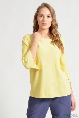Пуловер Pezzo. Цвет: жёлтый