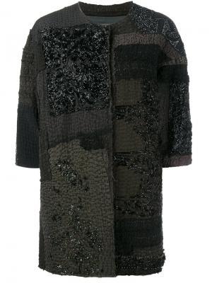 Пальто Delya By Walid. Цвет: чёрный