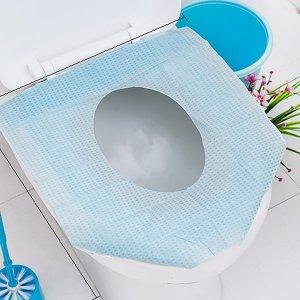 1шт Одноразовая крышка для сиденья унитаза SHEIN. Цвет: синий