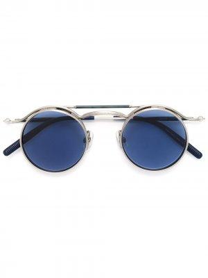 Солнцезащитные очки с круглой оправой Matsuda. Цвет: золотистый
