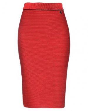 Юбка до колена BSB. Цвет: красный
