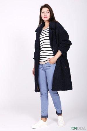 Пальто Just Valeri. Цвет: синий