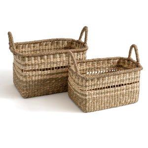 Комплект из 2 корзин с LaRedoute. Цвет: бежевый