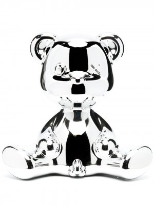 Настольная лампа Teddy Boy 32 см Qeeboo. Цвет: серебристый