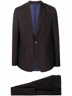 Строгий костюм с однобортным пиджаком PAUL SMITH. Цвет: коричневый