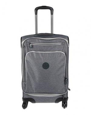 Чемодан/сумка на колесиках KIPLING. Цвет: серый