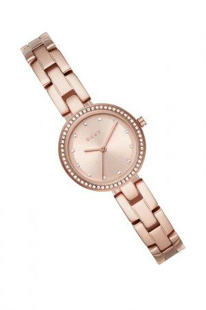 Часы наручные DKNY. Цвет: розовое золото