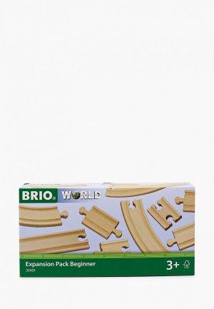 Конструктор Brio Ж/д полотно, базовые элементы. Цвет: бежевый