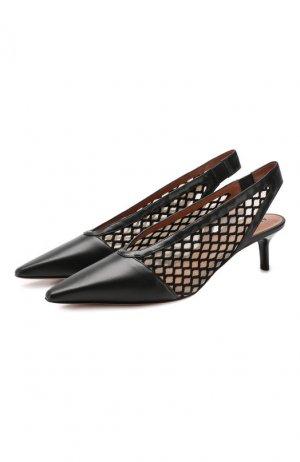 Комбинированные туфли Peppino Altuzarra. Цвет: чёрный