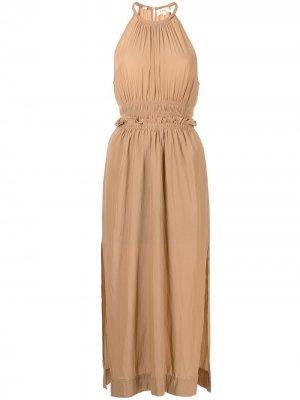 Платье миди с вырезом халтер A.L.C.. Цвет: нейтральные цвета