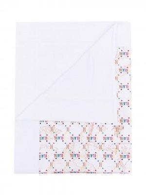 Одеяло 1st Class с графичным принтом Alviero Martini Kids. Цвет: белый