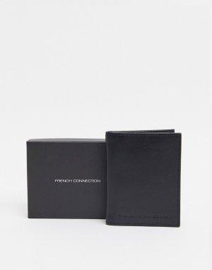 Кожаный кошелек для карт -Черный French Connection