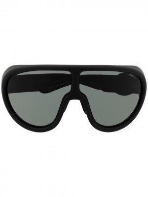 Солнцезащитные очки с логотипом Moncler Eyewear. Цвет: черный