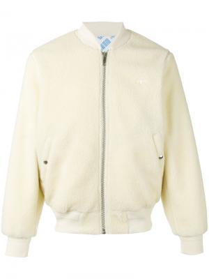 Куртка-бомбер из искусственной овчины Adidas Originals By Alexander Wang. Цвет: телесный