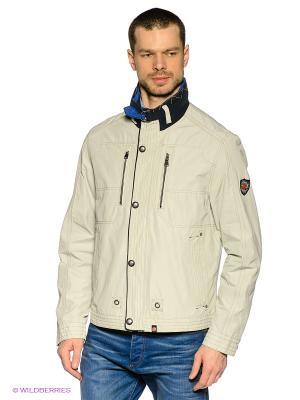Куртка Gate One. Цвет: серый меланж