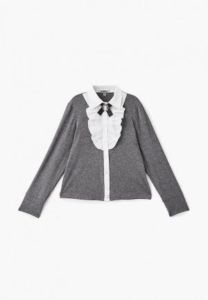 Блуза RionaKids Бриджит. Цвет: серый