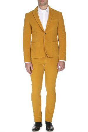 Костюм: пиджак, брюки CNC COSTUME NATIONAL C'N'C'. Цвет: горчичный