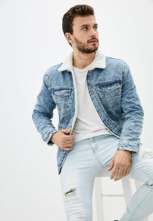 Куртка джинсовая Zolla. Цвет: голубой