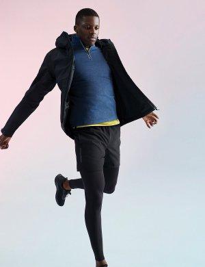 Куртка-анорак водонепроницаемая из коллекции Goodmove Marks & Spencer. Цвет: черный