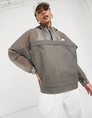 Пыльно-серая куртка-анорак Earth Day-Черный цвет Nike