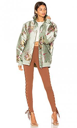 Двусторонняя куртка-бомбер Fenty by Puma. Цвет: сине-зеленый