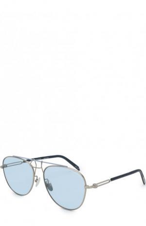 Солнцезащитные очки CALVIN KLEIN 205W39NYC. Цвет: голубой