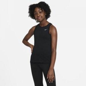 Майка для девочек школьного возраста Nike Pro - Черный