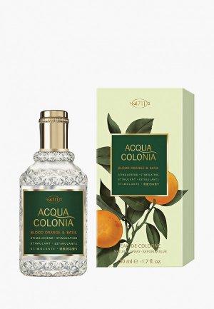 Одеколон 4711 Acqua Colonia Stimulating - Blood Orange & Basil, 50мл. Цвет: прозрачный
